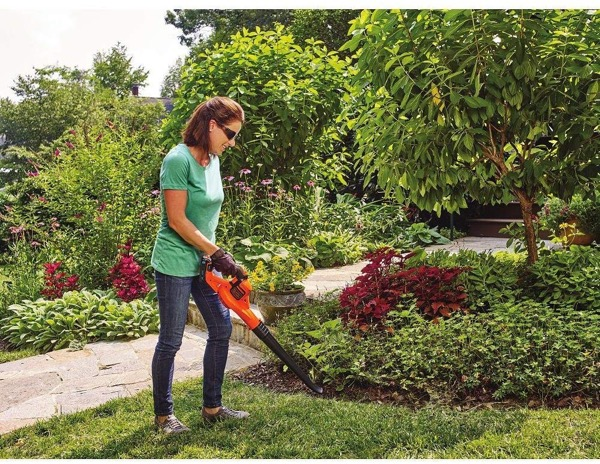 20V cordless leaf blower reviews - opening image of review category ergonomics