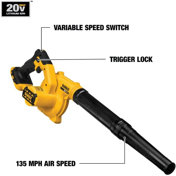 20V cordless leaf blower reviews - opening image of review category performance